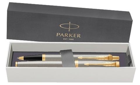 Набор: Перьевая и Шариковая ручка Parker IM Core Brushed Metal GT123