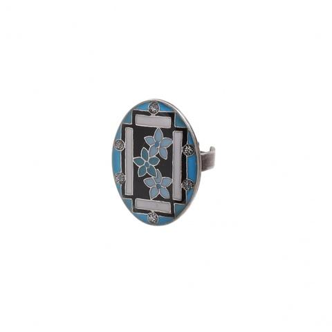 Кольцо Незабудки K75806 BL