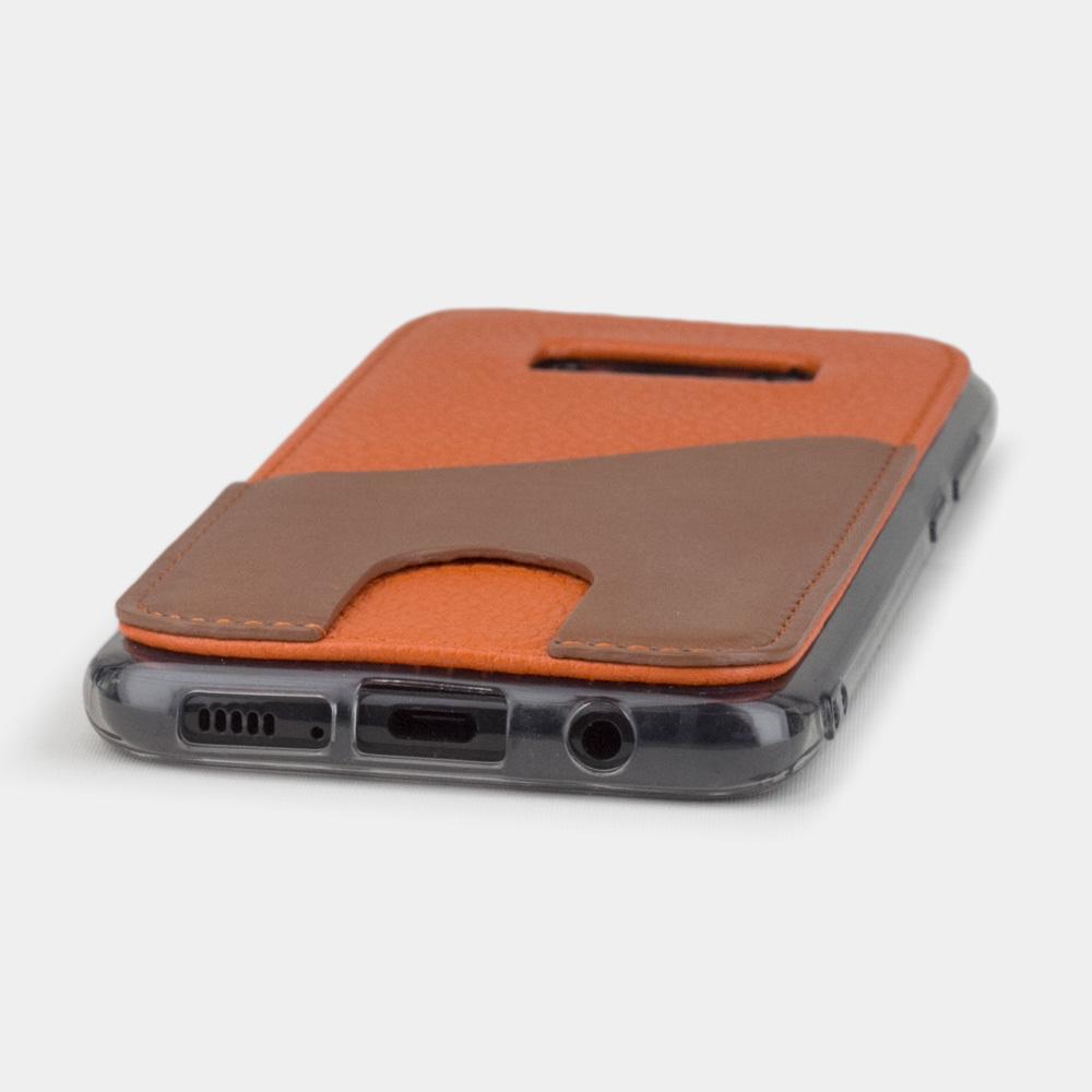 Чехол-накладка Andre для Samsung S8 из натуральной кожи теленка, оранжевого цвета