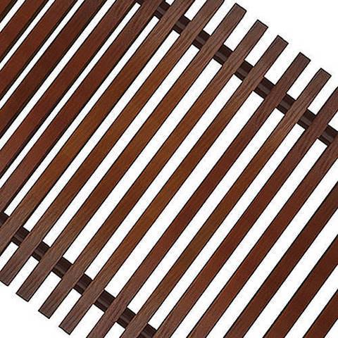 Решетка поперечная деревянная Techno шириной 300 мм, длина 2600 мм (цвет темное дерево)