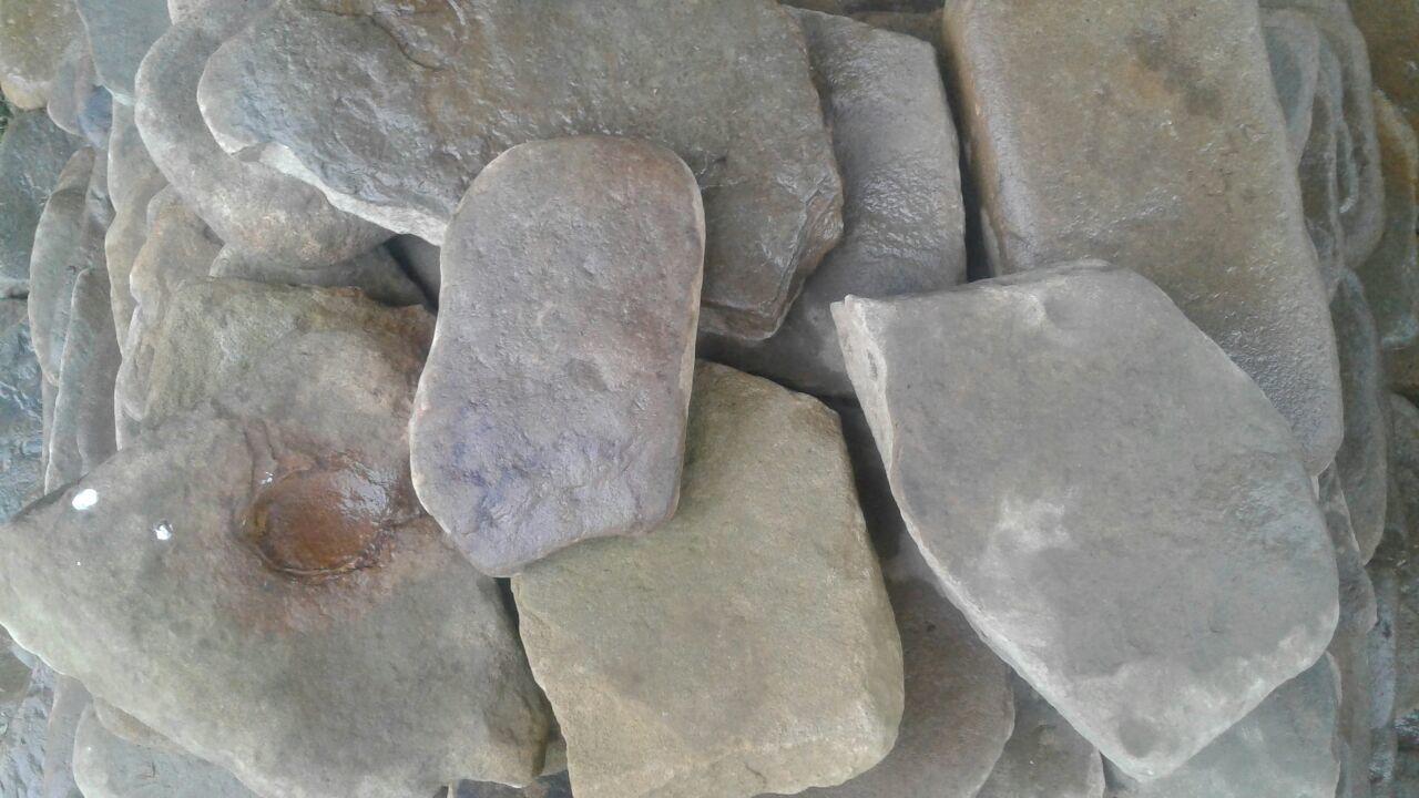 Шаговая дорожка камень речной Серый на карьере