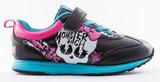 Кроссовки Монстер Хай (Monster High) на липучке для девочек, цвет черный. Изображение 1 из 8.