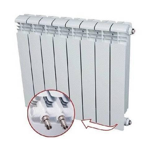 Радиатор алюминиевый секционный Rifar Alum Ventil 350 - 9 секций (подключение нижнее справа)