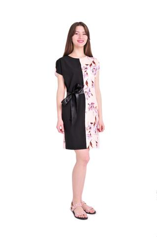 Платье Арина цвет персик с принтом