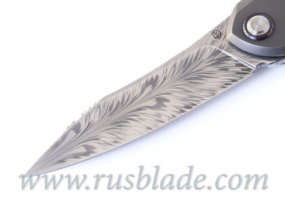 Cheburkov Russkiy Feather Damascus CUSTOM 2019