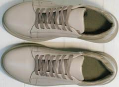 Повседневные женские кроссовки из натуральной кожи Markos 1523 All Beige.