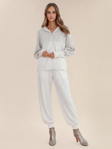 Женские брюки молочного цвета из шерсти и кашемира - фото 2