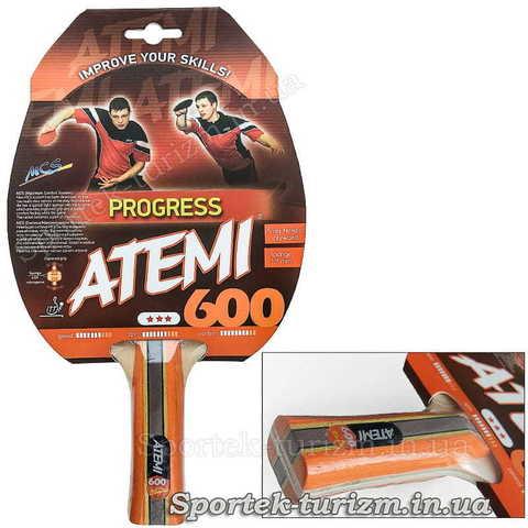 Ракетка для професіоналів настільного тенісу Atemi 600 Progress