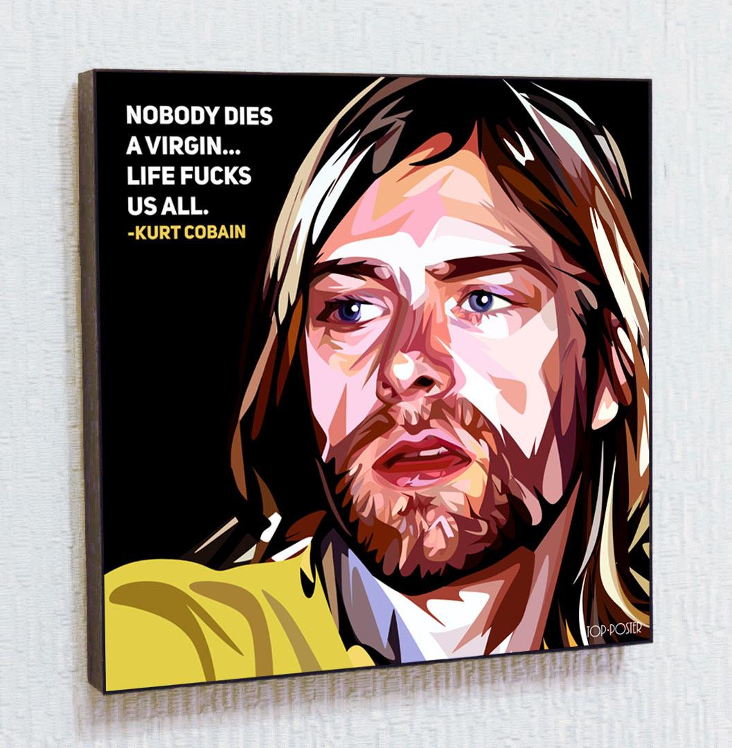 Курт Кобейн Картина ПОП-АРТ портрет постер