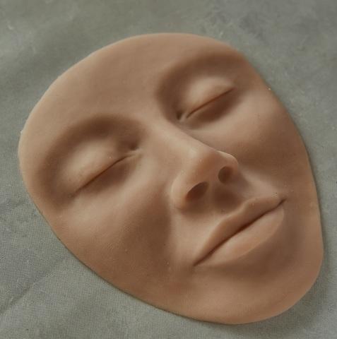 Муляж лица силиконовый