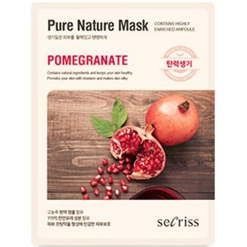 Маска для лица тканевая ANSKIN Secriss Pure Nature Mask Pack-Pomeganate 25 мл