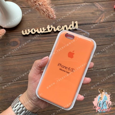 Чехол iPhone 6/6s Silicone Case /papaya/ папая 1:1