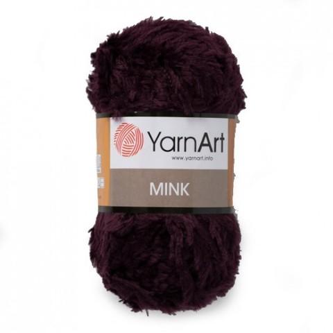 Пряжа YarnArt Mink - (342 баклажан)