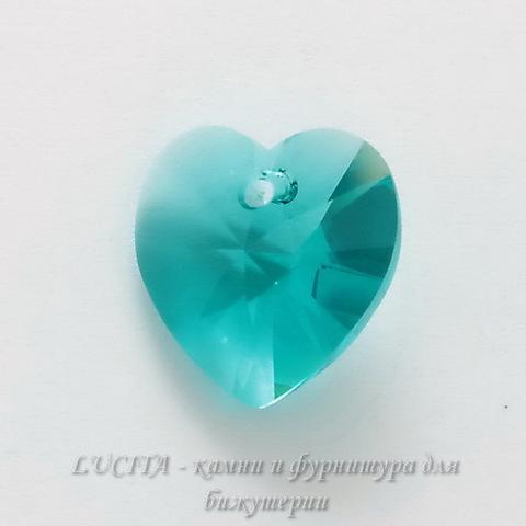 6228 Подвеска Сваровски Сердечко Blue Zircon (14,4х14 мм) ()