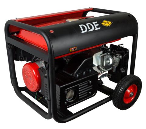 Генератор газ/бензин DDE DPPG5801Eоднофазн.ном/макс.  5/5,5кВт (DDE 13 л.с., т/бак 25 л, эл/ст,колеса, 88 кг)