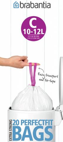 Пакет пластиковый 10/12л 20шт, артикул 245343, производитель - Brabantia