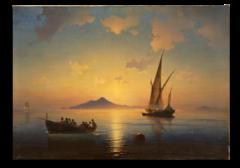 """Репродукция """"Айвазовский - Неаполитанский залив. 1841 год."""""""