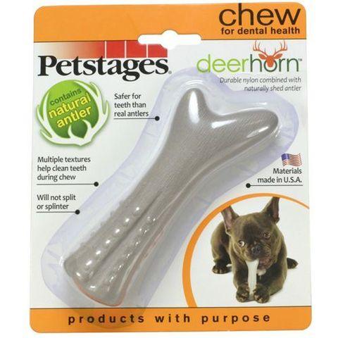 Petstages игрушка для собак Deerhorn, с оленьими рогами 12 см маленькая