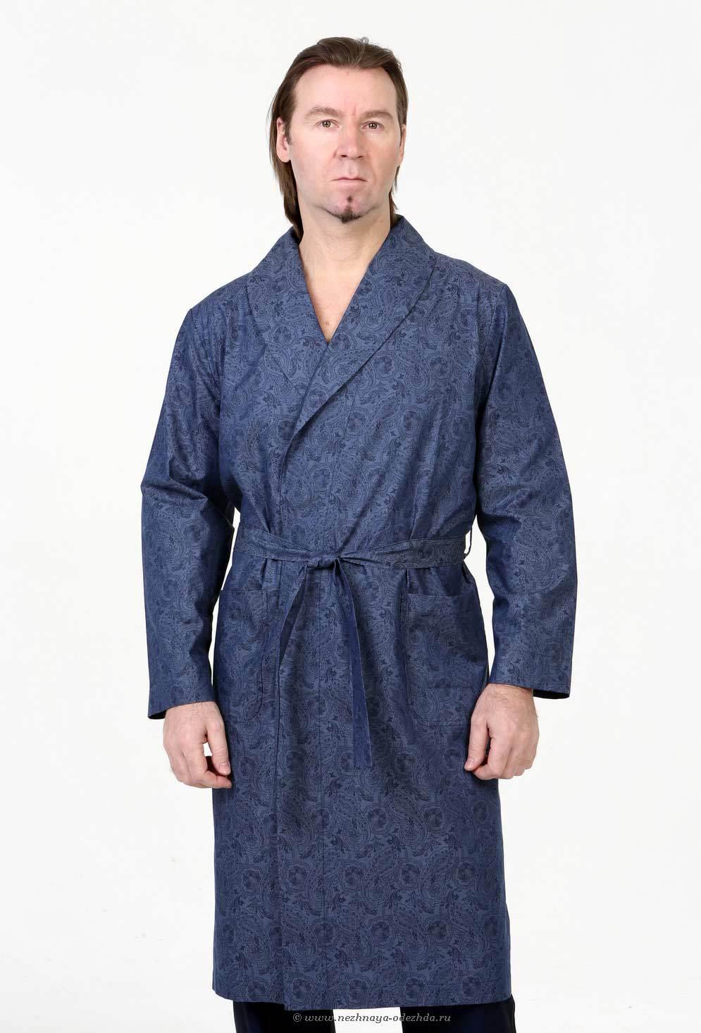Мужской халат с узорами B&B