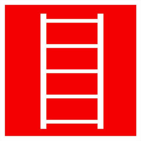 F03 знак пожарной безопасности - пожарная лестница