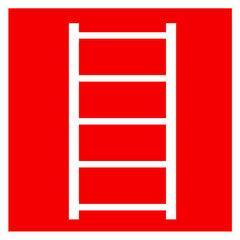 F03 знак пожарной безопасности «Пожарная лестница»
