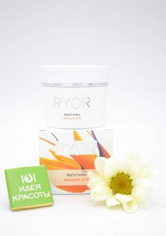 Ryor Ночной крем с коэнзимом Q10 и витамином Е для нормальной, смешанной, сухой и чувствительной кожи (35+), 50мл