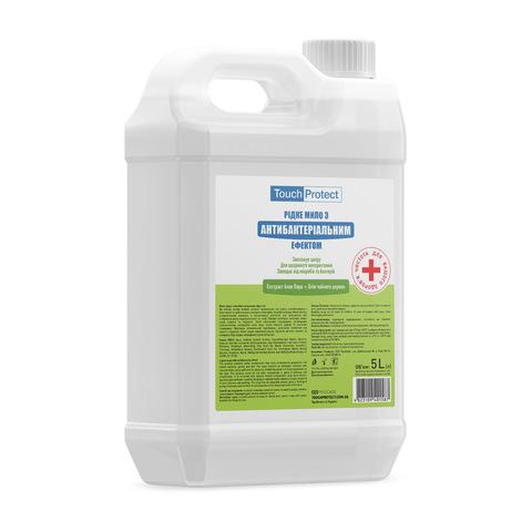 Жидкое мыло с антибактериальным эффектом Алое вера-Чайное дерево Touch Protect 5 L (1)