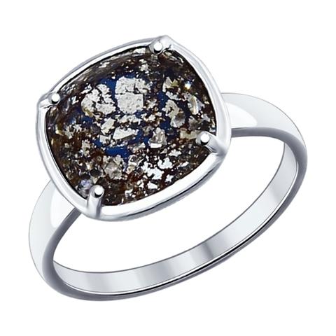 94012056 Кольцо из серебра с чёрным Swarovski от SOKOLOV