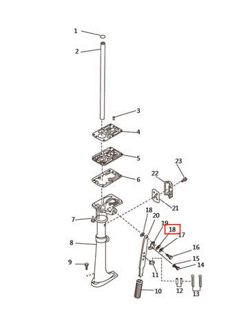 Шайба медная для лодочного мотора T2,5 SEA-PRO (7-18)