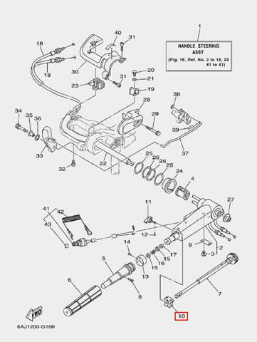 Фиксатор вала газа для лодочного мотора F20 Sea-PRO (16-10)