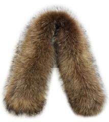 Опушка на капюшон из натурального меха енот 80 см. (Широкая) ширина до 20 см вместе с мехом.