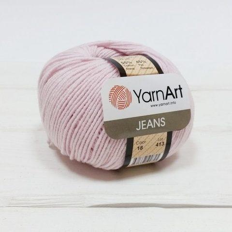 Пряжа YarnArt JEANS - (18-бледно-розовый)