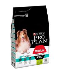 Pro Plan сухой корм для взрослых собак средних пород с чувствительным пищеварением (ягненок) 3 кг