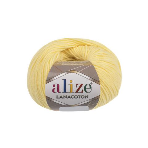 Купить Пряжа Alize Lanacoton Цвет 187 Лимон | Интернет-магазин пряжи «Пряха»