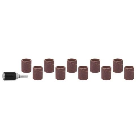 STAYER d=18,7 мм, Р 80/120, цилиндр шлифовальный абразивный, с оправкой, 10 шт