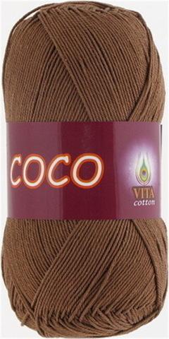 Пряжа Coco (Vita cotton) 4306 Светлый шоколад