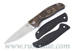 Shirogorov Set F3 СF black + G10 black handle scales