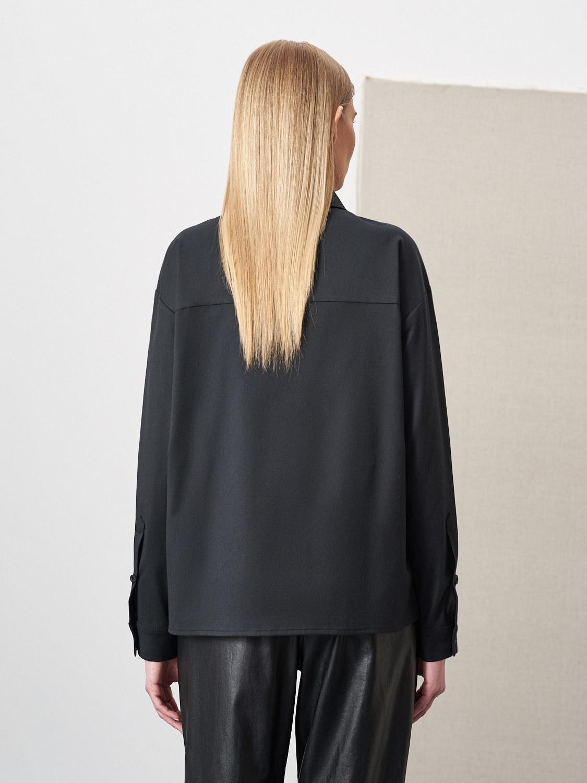 Рубашка Avery с отложным воротником, Черный