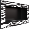 Биокамин встраиваемый в стену Kratki Golf Zebra