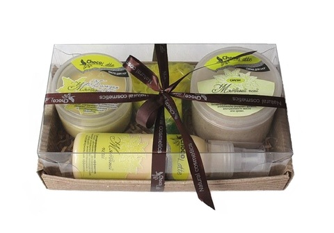 Набор подарочный №1 линия для ног Мятный Чай (бальзам, смузи, молочко, мыло)/TM ChocoLatte