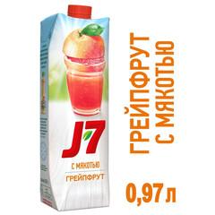 Сок J7 грейпфрутовый с мякотью 0.97 л