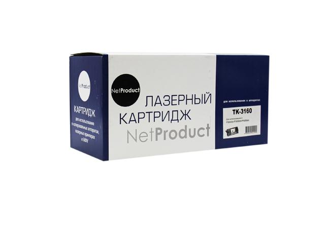 NetProduct TK-3160 для Kyocera, черный, с чипом, до 12500 стр.