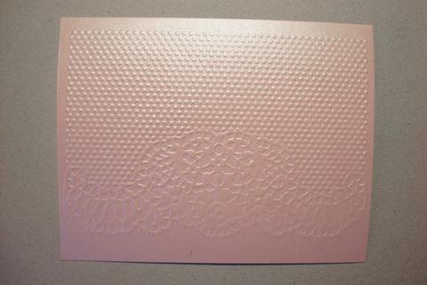 Бумага с тиснением Кружево, розовый