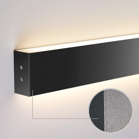 Линейный светодиодный накладной двусторонний светильник 103см 40Вт 4200К черная шагрень LS-02-2-103-4200-MSh