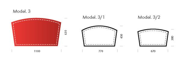 Схема кожаного бювара модели номер 3.
