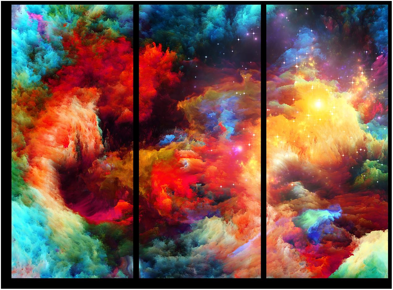 """Животные Модульная картина """"Абстракция цветов"""" М950.png"""