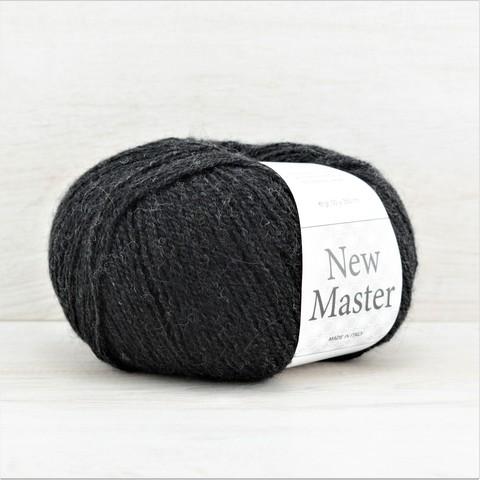 Пряжа New Master (Нью мастер) Черно-серый