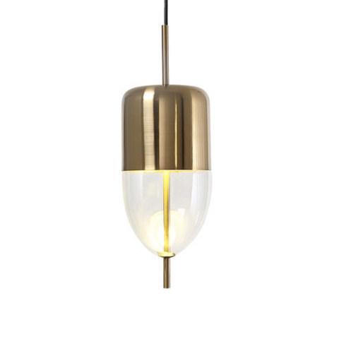 Подвесной светильник копия Flow[T] S5 by Nao Tamura (Wonderglass) (золотой/прозрачный)