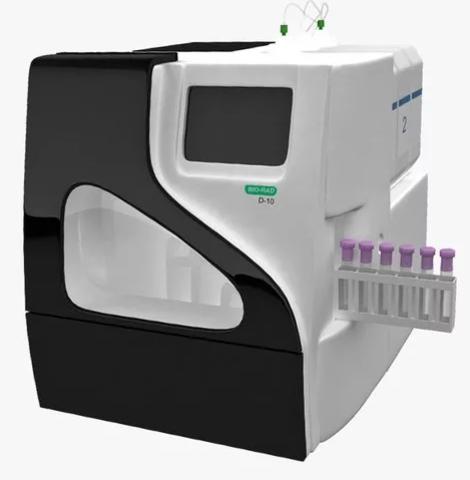 Диабет D-10 анализатор для определения гликированного гемоглобина А1с и гемоглобинов A2 и F