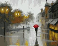 Картина раскраска по номерам 40x50 Прогулка под дождем